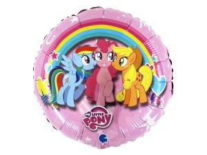 """Fóliový balónek kruh - My Little Pony 46cm/18"""""""