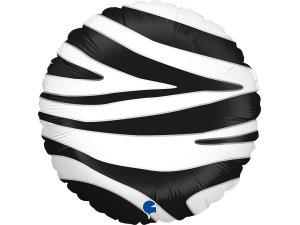 "18""/46cm kruh - motiv zebra"