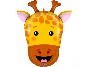 """30""""/74cm fóliový balónek - hlava žirafy"""