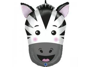 """30""""/74cm fóliový balónek - hlava zebry"""