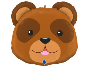 "29""/74cm fóliový balónek - hlava medvěda"