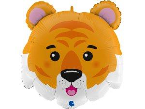 """28""""/71cm fóliový balónek - hlava tygra"""