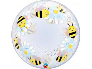 """24"""" DECO bublina - Včelky a květiny"""