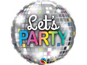 """18""""  kruh - LET'S PARTY disco koule 46cm"""