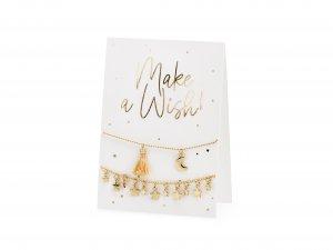 Karta s náramky Make a wish! 10.5x14.8cm