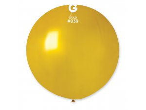 """Balónek 80cm/31"""" #039 metal zlatá"""