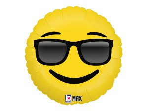 "18"" Emoji s brýlemi 46cm"