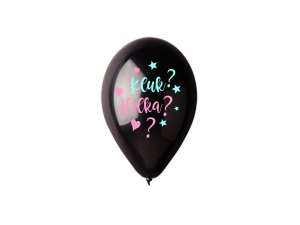 Balónek pastel 30 cm JE KLUK? HOLKA? potisk (100ks/bal)