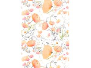Balící papír květy vodové 2 x 0,70 m