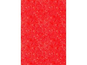 Balící papír červený s kolečky 2 x 0,70 m