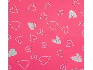 Balící papír malovaná srdce 2 x 0,70 m