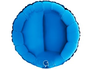 Balónek fóliové kulaté modré 46 cm SP