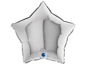 Balónek fóliové hvězda stříbrná 46 cm SP