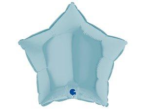 Balónek fóliové hvězda sv. modrá 46 cm SP