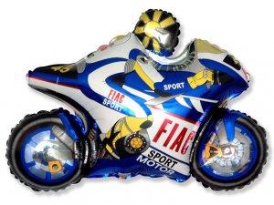 "Fóliový balónek - GP motorka modrá 29""/73cm x 38""/98cm"