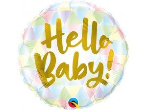 "18"" fóliový balónek kruh - Hello baby!"