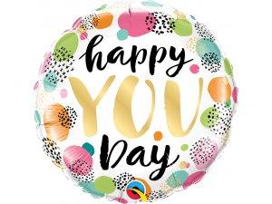 "18""/46cm fóliový balónek kruh - Tvůj šťastný den"