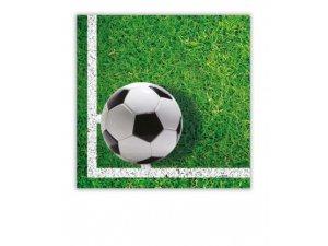 Papírové ubrousky Fotbal 33x33 cm / 20 ks