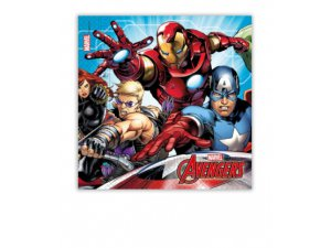 Papírové ubrousky Avengers 33x33cm / 20cm
