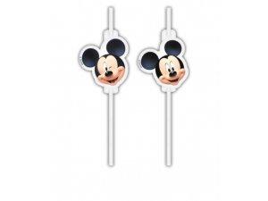 Papírová brčka - Mickey Disney 4ks