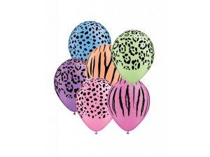 "Balónek Qualatex 11"" potisk NEON SAFARI (50ks v balení)"