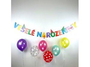 Party girlanda - Veselé narozeniny (1ks)