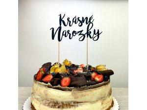 Zápich na dort - Krásné narozky černé - zapichovatko-na-dort-zp5604-4.jpg