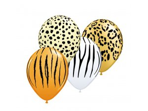 "Balónek Qualatex 11"" potisk SPECIAL SAFARI (50ks v balení)"