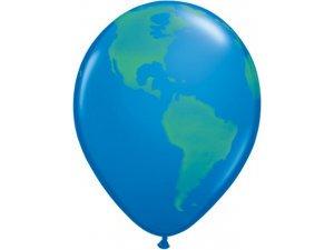 "Balónek Qualatex 11"" potisk globus (25ks v balení)"
