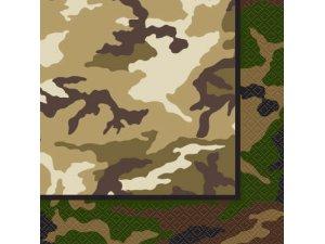 Papírové ubrousky - Army 16 ks