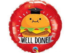 "18"" fóliový balónek - Burger Well done!"