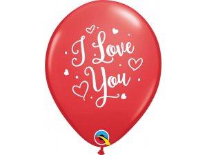 """11"""" balónek - I love you 28cm, 6ks"""