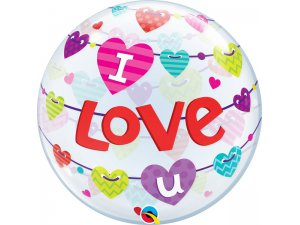 "22"" bublina - I love you girlandy"