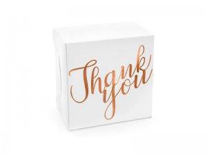 Dekorativní krabička - Děkuji rosegold 14x8.5x14cm