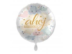Fóliový balónek Ahoj miminko CZ 43 cm