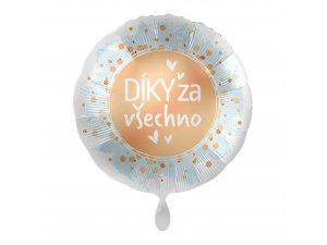 Fóliový balónek Díky za všechno CZ  43 cm