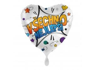Fóliový balónek Všechno nejlepší CZ Komiks 43 cm