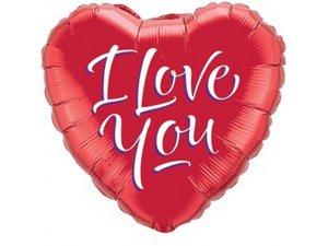 "18"" fóliový balónek - SRDCE - I LOVE YOU"