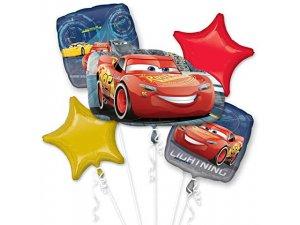 Buket fóliových balónků - Auta, 5 ks