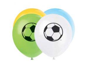 Balónek pastel 30cm potisk Fotbal 8ks